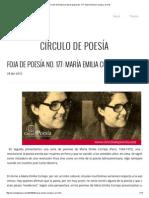 Círculo de Poesía _ Foja de Poesía No