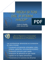 Prerequisitos Del Haccp -FDA