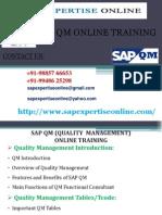 Sap Qm Online Training Classes in India