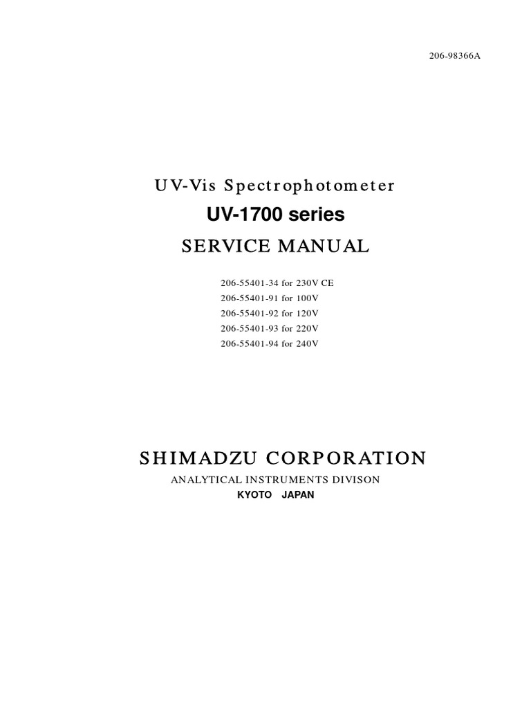 shimadzu uv 1700 users guide optical filter electrical connector