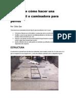 Manual de Cómo Hacer Una Carpet Mil o Caminadora Para Perros
