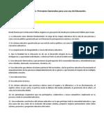 """Conclusiones Mesas (1,2,3,5,8) II Jornadas """"La Educación que queremos"""""""