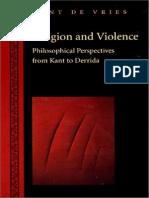 VRIES. Religion and Violence -Derrida-Kant