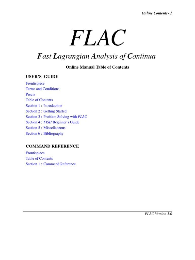 flac manual rh scribd com Itasca Software Itasca FLAC