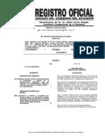 Registro Oficial Normas Tecnicas Ambientales