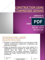 image reconstruction using compressive sensing