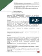 El Proceso de Formacion Del Valor de La Perseverancia en La Resolución de Problemas Matemáticos[1]