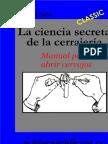 CERRAJERÍA Manual para abrir cerrojos. Michael Bübl (27 págs)