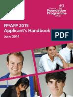 FP2015 Applicants Handbook