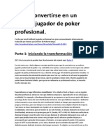 Cómo Convertirse en Un Exitoso Jugador de Poker Profesional