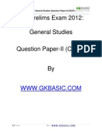 Ias Prelims Exam 2012 General Studies Question Paper II (CSAT)