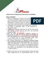 NationalRuralEmploymentGuaranteeAct(NREGA) WhatisNREGA? vNREGA Is Designed As a