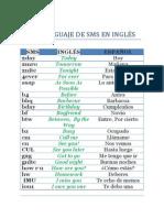 Lenguaje Sms Inglés