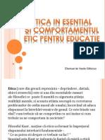 Etica in Esential Si Comportamentul Etic Pentru Educatie .Vasile Glibiciuc