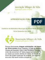 apresentaçaopublica Associaçao MVPP