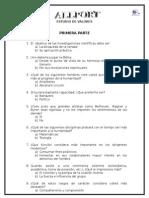 Allport Cuestionario Primera y Segunda Parte
