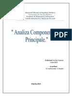 Analiza Componentelor Principale - SAS