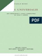 Paolo Rossi - Clavis Universalis.