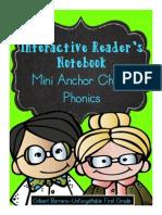 Interactive Mini Anchor Charts Reader's Notebook