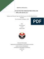 Proposal Penelitian Pengaruh Tayangan Televisi terhadap Minat Belajar Siswa