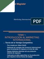 Teoría de Marketing Internacional