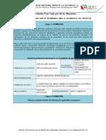 Matriz. Elaboracion Guia de Actividades Para El Desarrollo Del Proyecto Integrado de Clase