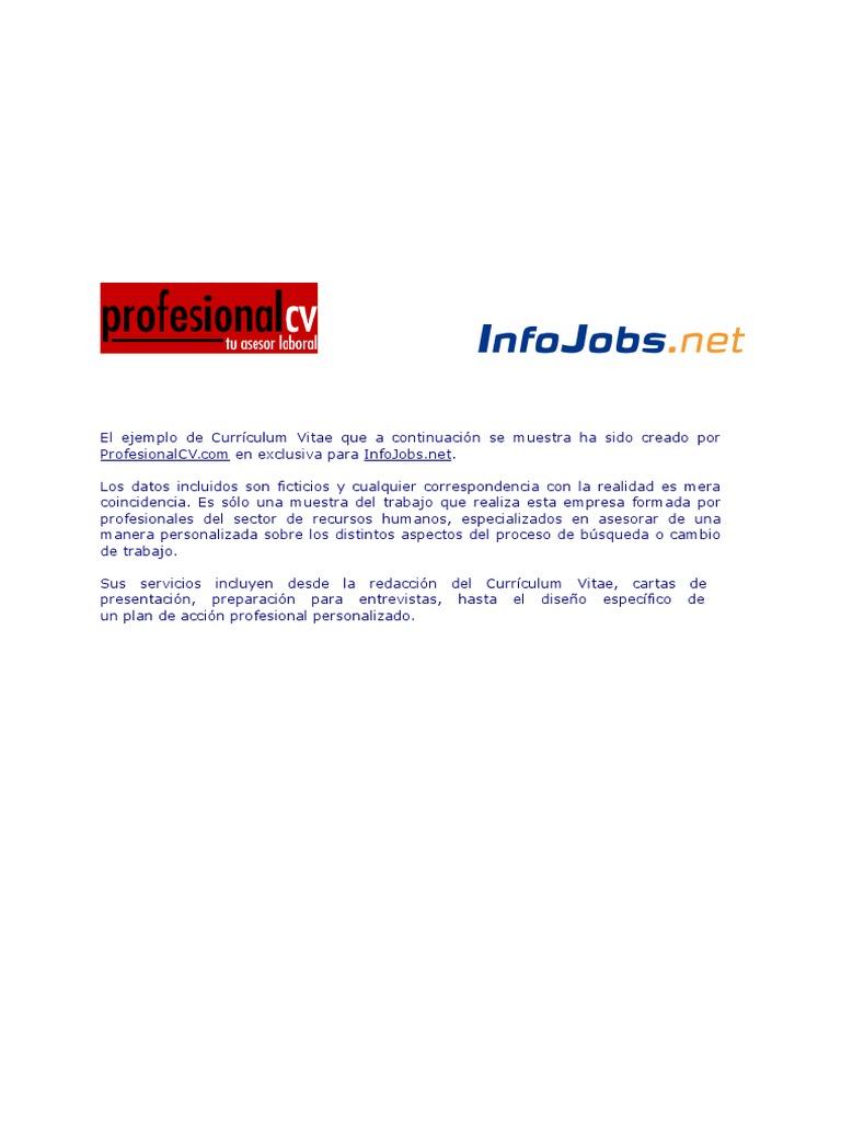Curriculum Ingles English CV | Money | Economies