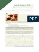 Beneficios y Contraindicaciones Del Té Rojo