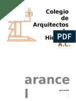 Aranceles CAH