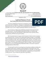 Nevada NAACP Marijuana Letter