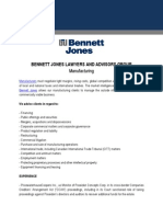 Bennett Jones Lawyers and Advisors Group Manufacturing