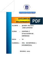 Analisis Multiproducto