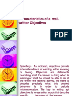 Characteristics of a well-written Objectives.ppt
