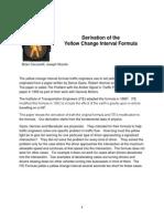 Yellow Light Duration Derivation
