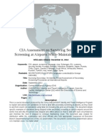 CIA Assessment on Surviving Secondary Screening