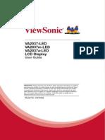 Viewsonic VA2037 Manual