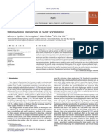 Optimisation of particle size in waste tyre pyrolysis