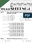 4 Advanced Algebra Worksheet