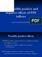The Possible Positive and Negative Effects of FDI
