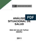 analisis de la situacion de salud de la RED TUPAC AMARU