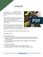 Basic Food Growing 101