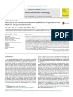 Research on the Thermal Decomposition and Kinetics of Byproducts From MgO Wet Flue Gas Desulfurization 2014 Advanced Powder Technology