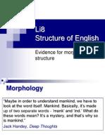 Li8 Evidence for Morphological Structure SHORT