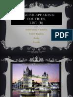 Countries Speaking- English-proyecto Ingles 2