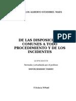 Carlos Alberto Stoeherel Maes de Las Disposiciones Comúnes A