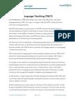 UL2 Task Based Language Teaching