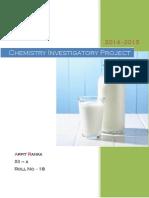 Amount of Casein in Milk - Chemistry project cbse class 12