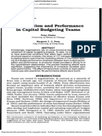 Chalos, Peter., Margaret C.C Poon. 2000. Participation and Performance in Capital Budgeting Teams