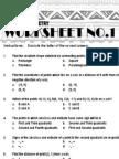 1 Analytic Geometry Worksheet