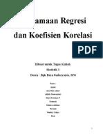 Persamaan Regresi Dan Koefisien Korelasi